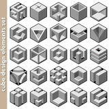 Cube design elements Stock Photography