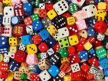 Cube dice collection Royalty Free Stock Photos