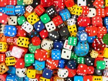 Cube dice collection Stock Photography