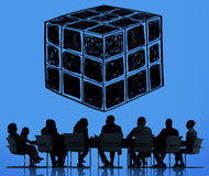 Cube Dice Dimension Logic Mind Thinking Concept Stock Image