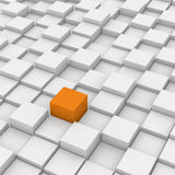 Cube différent en rouge Photographie stock libre de droits
