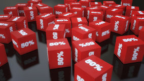Cube discounts on the floor Stock Image