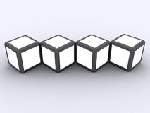 Cube display photo frame concept Royalty Free Stock Image