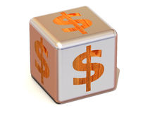 Cube with dollar Stock Photography
