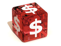 Cube with dollar Royalty Free Stock Photo