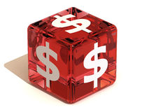Cube with dollar Royalty Free Stock Images
