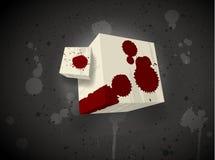 Cube effrayant foncé Photo libre de droits