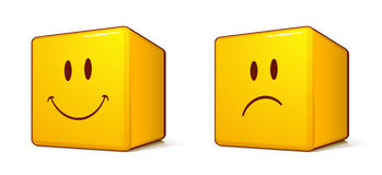 Cube emoticons Royalty Free Stock Photo