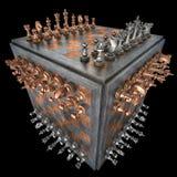 Cube en échecs Photo libre de droits