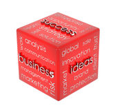 Cube en affaires Photo stock