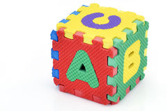 Cube en alphabet d'amusement Photo stock