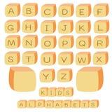 Cube en alphabets Images stock