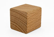 Cube en bois Photo stock