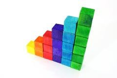 cube en bois Photos stock