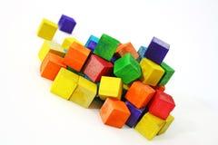 cube en bois Photographie stock