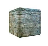 Cube en bois foncé Photos libres de droits