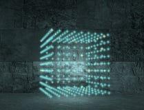 Cube en club de disco Images libres de droits