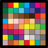 Cube en couleur Photos stock