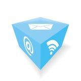 Cube en email Photographie stock libre de droits