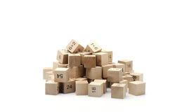 Cube en formule mathématique sur le fond blanc Photographie stock libre de droits
