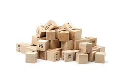 Cube en formule mathématique sur le fond blanc Images libres de droits