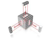 Cube en gestion des projets Photos libres de droits