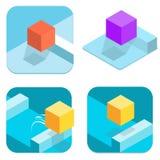 Cube en icône Images libres de droits