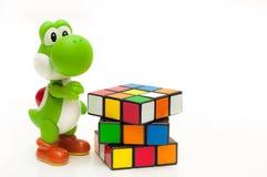 Cube en jeu photo libre de droits