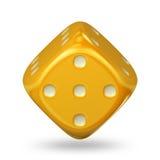 Cube en jeu Photo stock