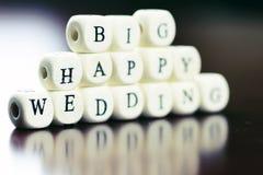 Cube en mariage des textes Photographie stock