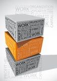 Cube en mot d'affaires Photos stock