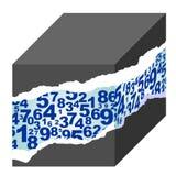 Cube en nombre Images libres de droits