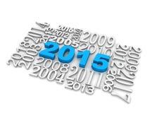 cube en nouvelle année 3d 2015 Photo stock