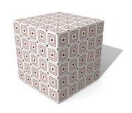 Cube en papier cartonné Image libre de droits