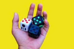 Cube en personne remuante Images stock