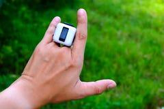 Cube en personne remuante Photo libre de droits