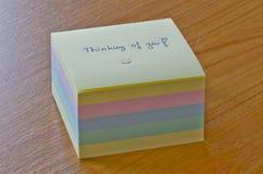Cube en post-it Images stock