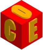 Cube en Président Image libre de droits