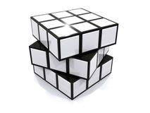 Cube en puzzle Photos libres de droits