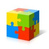 Cube en puzzle Photographie stock
