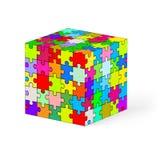 Cube en puzzle. Photographie stock