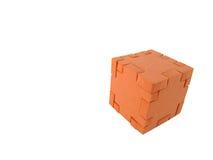 Cube en puzzle Images libres de droits