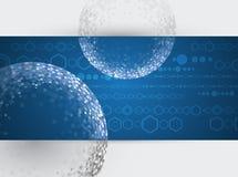 Cube en réseau de technologie d'émergence illustration libre de droits