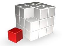 Cube en Rubik Images libres de droits