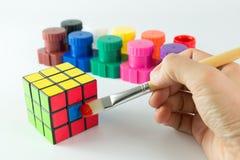 Cube en Rubik Image libre de droits