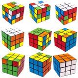 Cube en rubik de collage Photographie stock libre de droits
