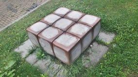 Cube en rubiks de vie réelle Photographie stock libre de droits