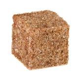 Cube en sucre roux Image libre de droits