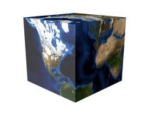 Cube en terre Photos stock