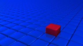 Cube en unicité illustration stock